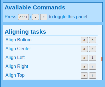 Commands for aligning tasks