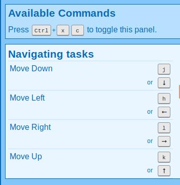 Basic navigation commands