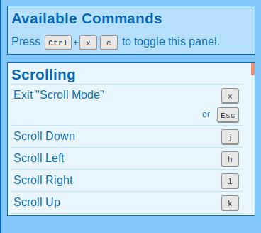 Scroll commands